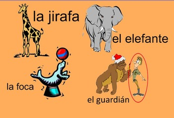 Zoo Animals and Adjectives in Spanish