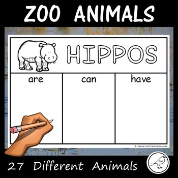 Zoo Animals  –  are… can… have…