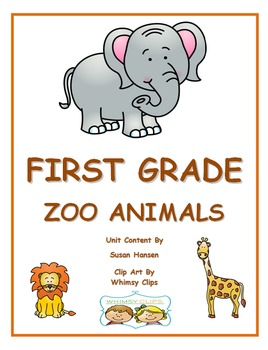 Zoo Animals:  First or Second Grade Activities