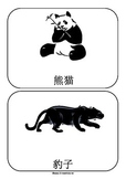 Zoo Animals in Chinese Flashcards