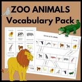 Zoo Animals in Spanish Vocabulary Game Pack