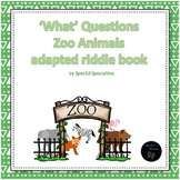 Zoo Animals interactive book answering 'What' questions