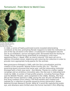 Zoo Atlanta - Reading Comprehension Passage