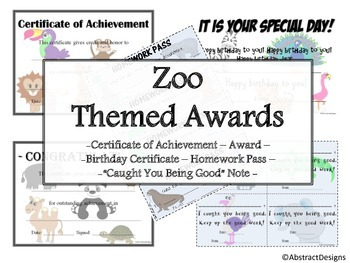 Zoo Awards Set