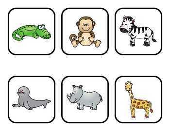 Zoo Animal BINGO and More
