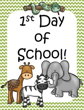 Zoo Back to School Printables pack