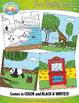 Zoo Background Scenes Clip Art Set — Includes 30 Graphics!