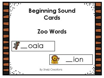 Zoo Beginning Sound Word Cards