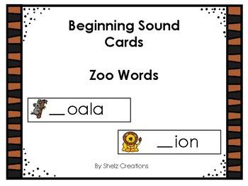 Zoo Beginning Sound Word Cards