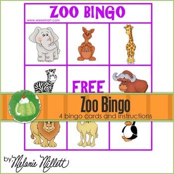 Zoo Bingo Game