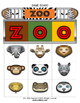 Zoo Bingo / Matching Activity Game + flashcards
