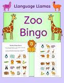 Zoo bingo for class topic or ESL EAL EFL MFL