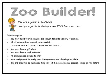 Zoo Builder ( early Area and Perimeter)