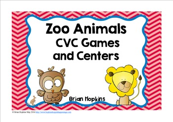 Zoo CVC Games and Centers