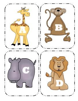 Zoo  Capital Alphabet Flash Cards