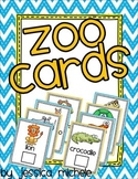 Zoo Cards {Preschool Zoo Passport}