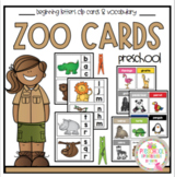 Zoo Cards 2 Sets Clip Cards and Vocabulary