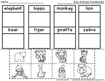Zoo Centers & Supplementary Activities for Kindergarten