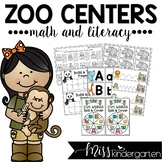 Zoo Centers for Math and Literacy {kindergarten}