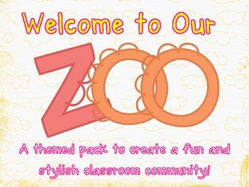 Zoo Classroom Theme Pack