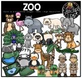 Zoo Clip Art Bundle {Educlips Clipart}