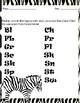Zoo Consonant Blends Scavenger Hunt Printable