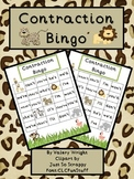 Zoo Contraction Bingo Common Core