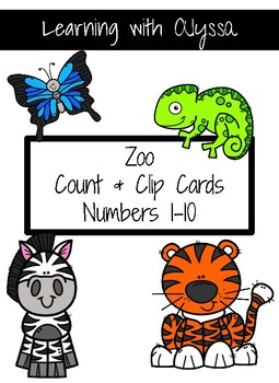 Zoo Count & Clip Cards 1-10