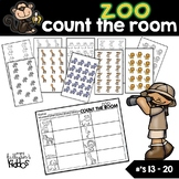 Zoo Count the Room for Numbers 13-20