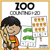 Zoo Counting Clip Cards (1-20)