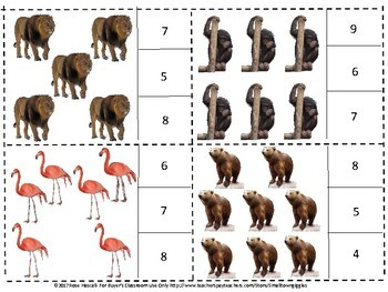 Zoo, Counting to 20, Count and Clip, Kindergarten Math, Special Education Math
