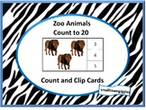 Counting Activities Count and Clip, Kindergarten Special E