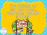 The Animals at  the Zoo Cost…  Emergent Reader Freebie