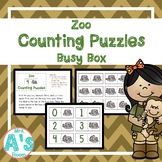 Zoo Counting Puzzles Busy Box
