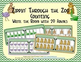Zoo Counting with 20 Frames {Subitizing}