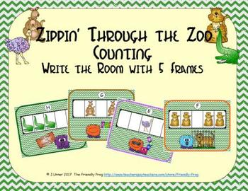 Zoo Counting with 5 Frames {Subitizing}