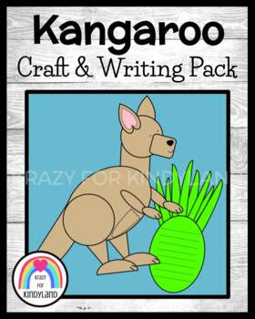 Kangaroo Craft And Writing (Zoo, Jungle)