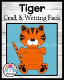 Tiger Craft And Writing for Kindergarten (Zoo, Jungle, Animal Research)