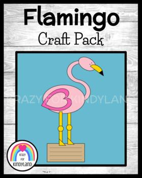 Zoo Craft and Writing: Flamingo