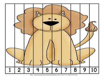 Zoo Cutie Number Order and Skip Counting Puzzles