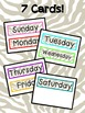 Zoo Unit - Week Day Cards