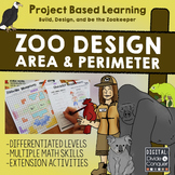 Project Based Learning: Zoo Design, Area & Perimeter (PBL) Now For Google Slides