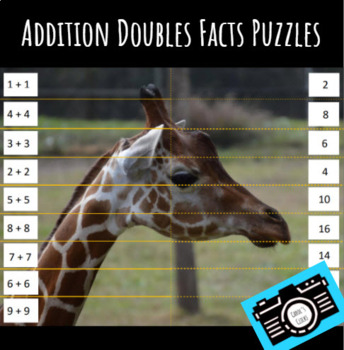 Zoo Doubles Addition Puzzles