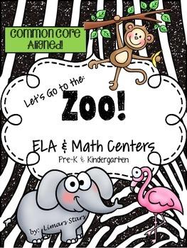 Zoo ELA & Math Centers