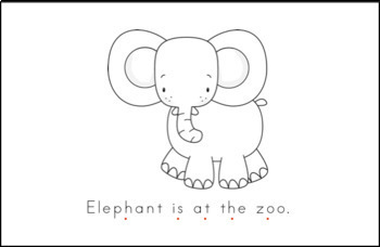 Zoo Early Emergent Reader - Black & White Version