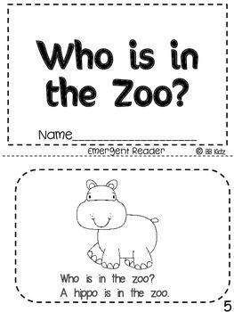 Zoo Emergent Reader & Activities to go with it!