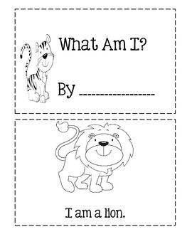 Zoo Emergent Reader ~ What Am I?