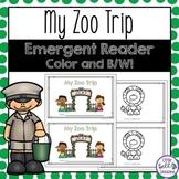 Zoo Emergent Reader - Zoo Activities for Preschool and Kin
