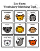 Zoo Faces Vocabulary Folder Game for Early Childhood Special Education
