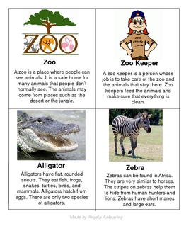 Zoo Fact Cards